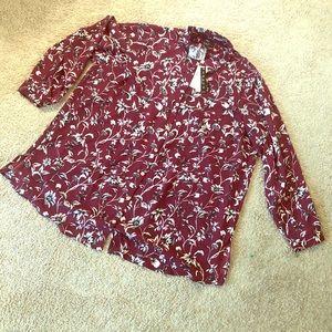 NWT Grace flowered dress shirt size 1x